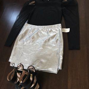 Forever 21 -Silver mini skirt